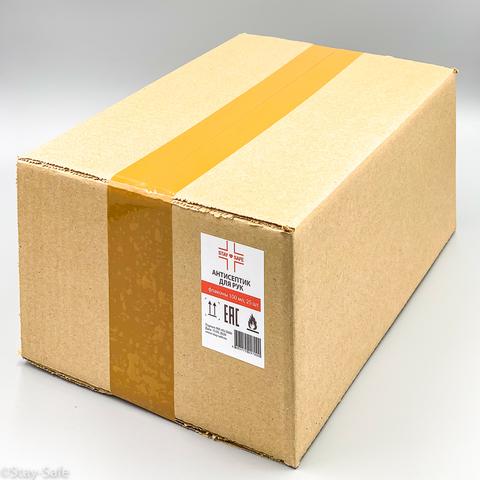 Комплект Санитайзер Stay-Safe (антисептик для рук) в коробке 25 шт по 100 мл