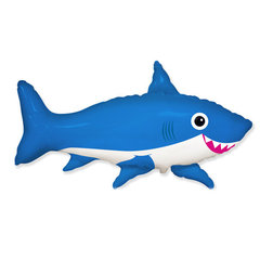 F Фигура, Счастливая акула, Синий, 39''/99 см, 1 шт.