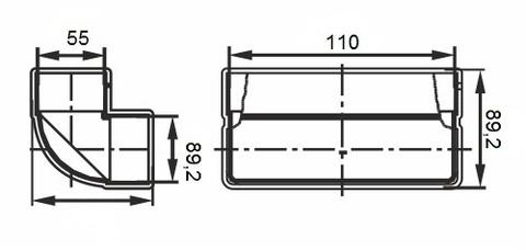 Колено вертикальное 110х55