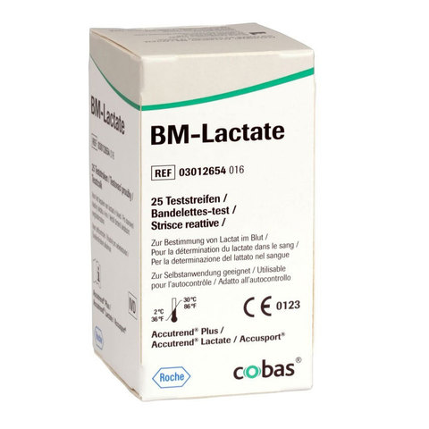 Тест-полоски аккутренд БМ-Лактат BM-Lactate, упаковка 25 шт. /Roche Diagnostics GmbH, Германия/