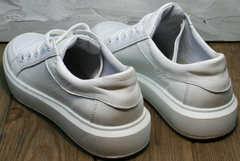 Модные подростковые кроссовки кеды белые низкие Maria Sonet 274k All White.