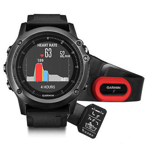 Купить Спортивные смарт часы Garmin Fenix 3 Sapphire HR (со встроенным и нагрудным пульсометром) 010-01338-74 по доступной цене