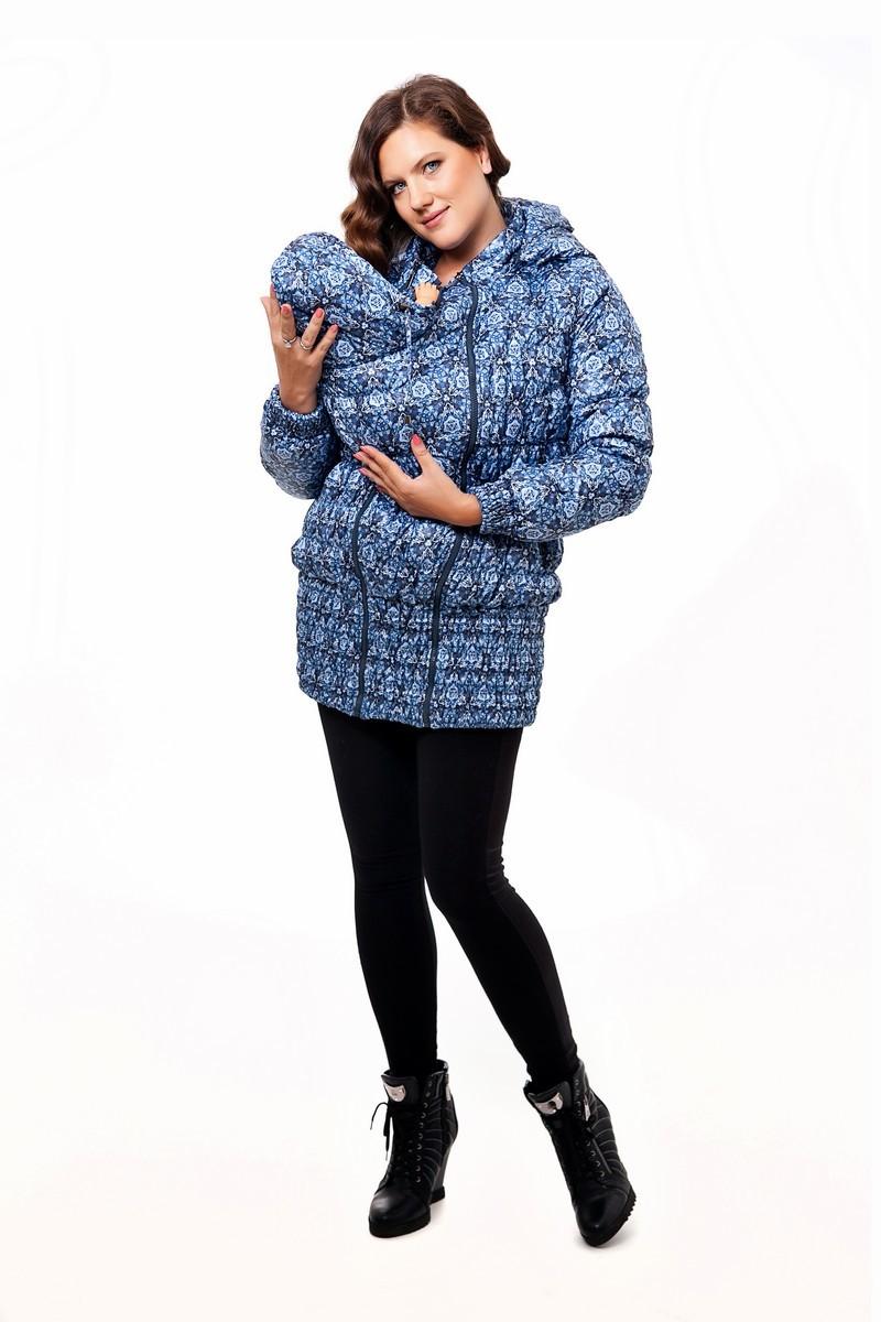 Слингокуртка для беременных 04920 голубой
