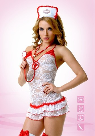 Кружевной костюм Медсестры (Le FRIVOLE)