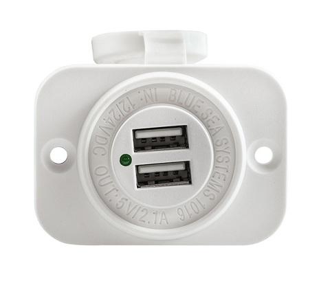 Разъем USB 5 В, 2,1 А, на панели, белый