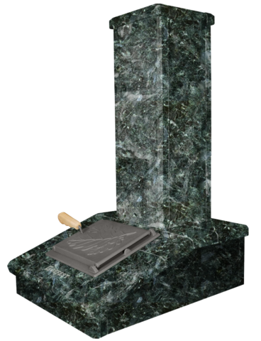 Облицовка на трубу Серпентинит, высота 790мм. ПБ-04-ЗК Президент
