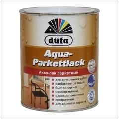 Лак полуматовый для паркета Dufa AQUA-PARKETTLACK (Прозрачный)
