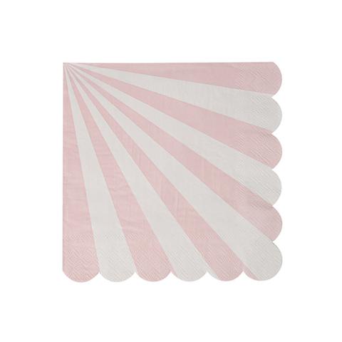 Салфетки в розовую полоску, мал.