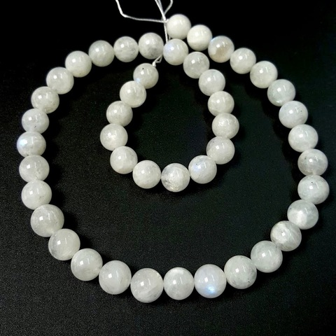 Бусины лунный камень А шар гладкий 9-9,4 мм 22 бусины