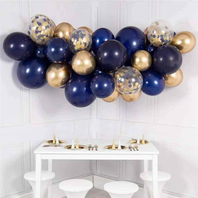 Гирлянды из шаров Гирлянда разнокалиберная Синие Золотая -.jpg_q50__1_.jpg