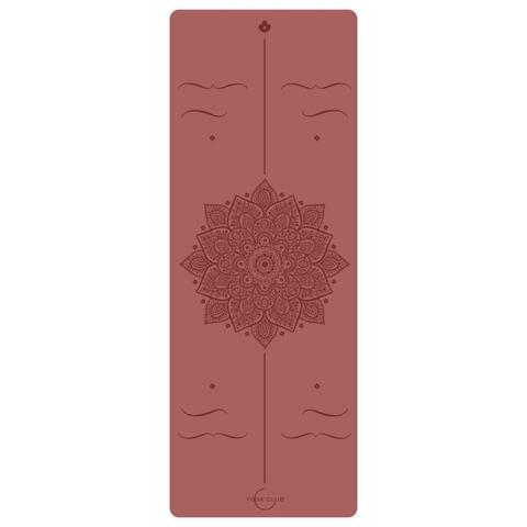 Каучуковый йога коврик Amra Red Pro 185*68*4,5см
