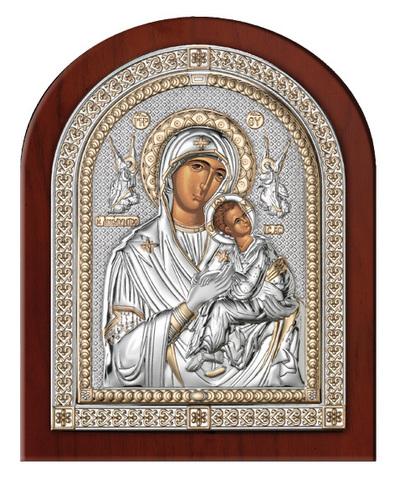 Серебряная икона Божия Матерь Страстная (эксклюзивная рамка)