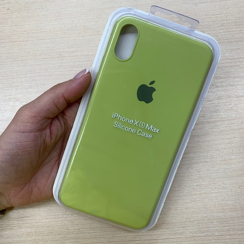 Чехол iPhone XS Max Silicone Slim Case /lime/