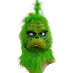 Как Гринч украл Рождество латексная маска для взрослых Гринч