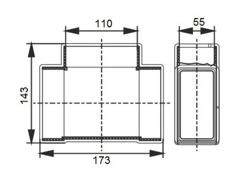 Тройник Т-образный 110х55