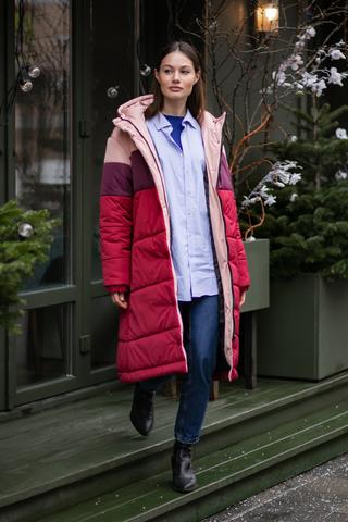 Куртка длины миди