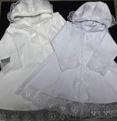 платье для крещения с капюшоном