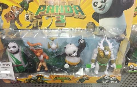 Набор игрушек Кунг-Фу Панда 4 шт