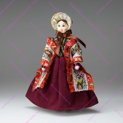 Кукла в капоре по мотивам кукол из коллекции А.Н.Бенуа