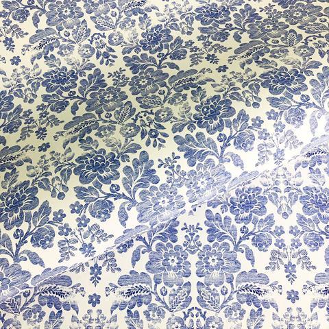 Бумага декоративная подарочная Голубая парча