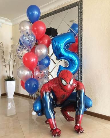 Композиция из шаров Человек-паук