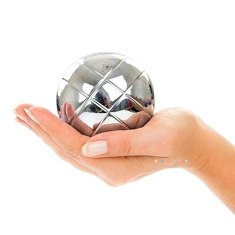 Петанк (боча) стальной+золотой+черный+радужный, 8 шаров