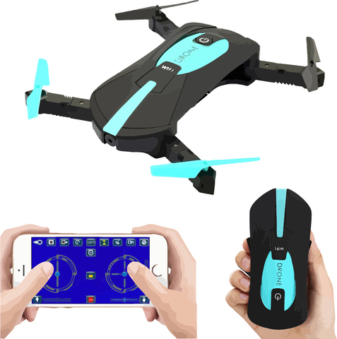 Селфи дрон квадракоптер Pocket Drone JY018