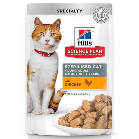 Hill's пауч для стерилизованных кошек до 6 лет (курица) 85г