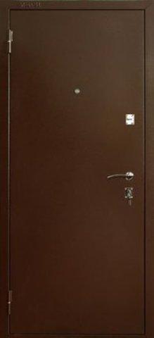 Дверь входная ДС-150 стальная, венге, 2 замка, фабрика Меги