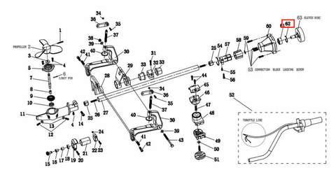 Кольцо-фиксатор Ø35 для лодочного мотора T2 SEA-PRO