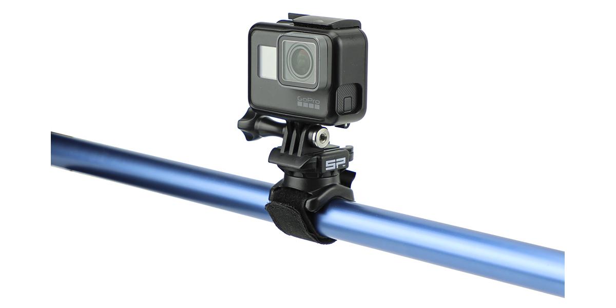 Крепление-липучка SP Velcro Mount с камерой вид сбоку
