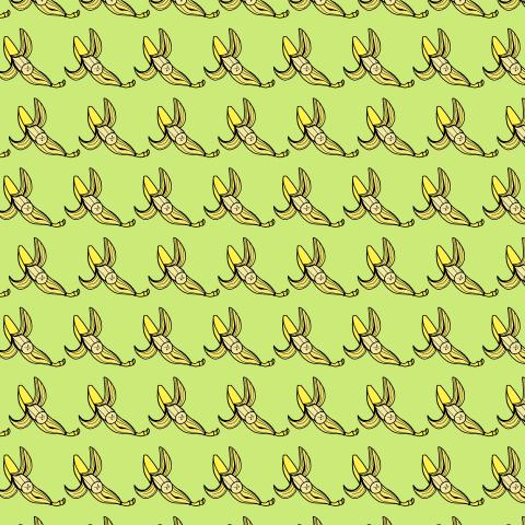 бананы на зеленом фоне