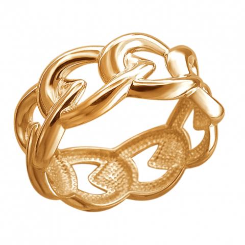 01К0513037А Кольцо из золочёного серебра в форме звеньев цепи