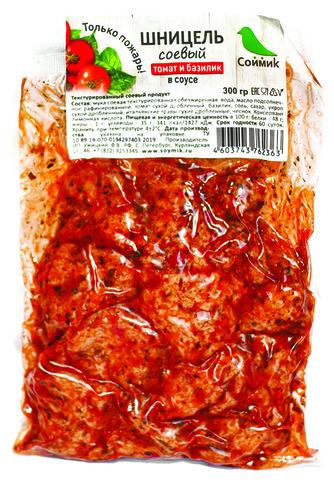 Соймик Шницель соевый в соусе с томатом и базиликом 300 г