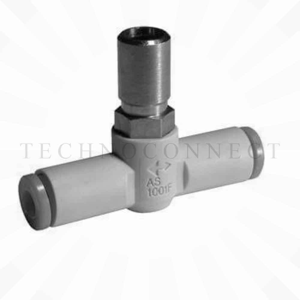 AS4001F-10-3   Дроссель с обратным клапаном, панельного монтажа, б/р 10