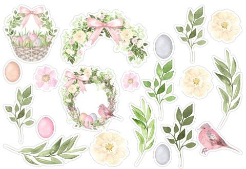 Печать на сахарной бумаге, Набор цветы 12