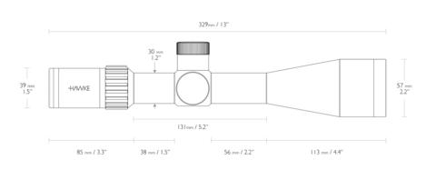 Оптический прицел Hawke Airmax30 Compact 6-24x50 IR SF (AMX IR)