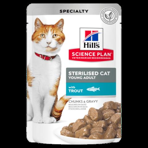 Hill's пауч для стерилизованных кошек до 6 лет (форель) 85г