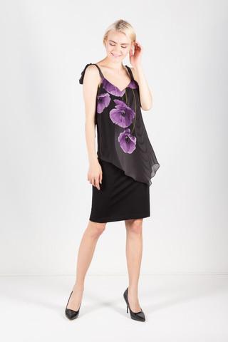 Фото нарядное чёрное платье из воздушнего шифона - Платье З433-823 (1)