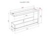 Схема чертеж Торцевой биокамин Lux Fire 1155 М