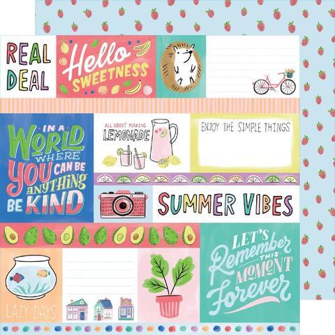 Лист двусторонней бумаги 30х30см -Amy Tan Stay Sweet от American Crafts