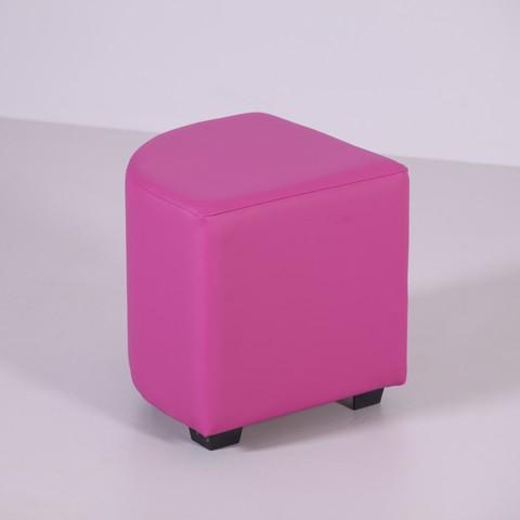 Пф-04 Пуфик угловой (розовый ) для дома и магазина