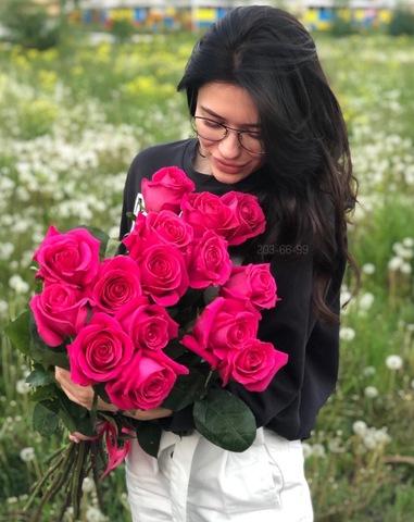 15 эквадорских роз 80 см #1240