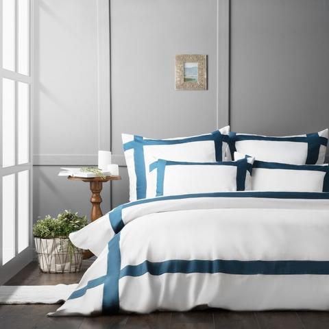 Комплект постельного белья сатин Империал синий