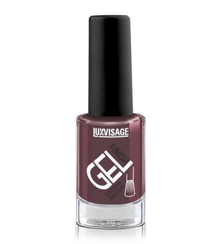 LuxVisage Gel Finish Лак для ногтей тон 28 (темный лилово-бежевый ) 9г