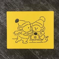 Мышки на санках №1