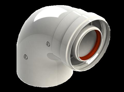 Колено диам. 60/100L MF 90 RTF17.001 - RoyalThermo