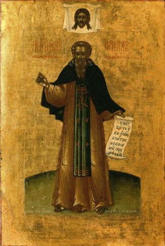 Икона святой Кирилл Новоезерский на дереве на левкасе мастерская Иконный Дом