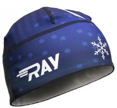 Лыжная шапка RAY RACE синий снежинка