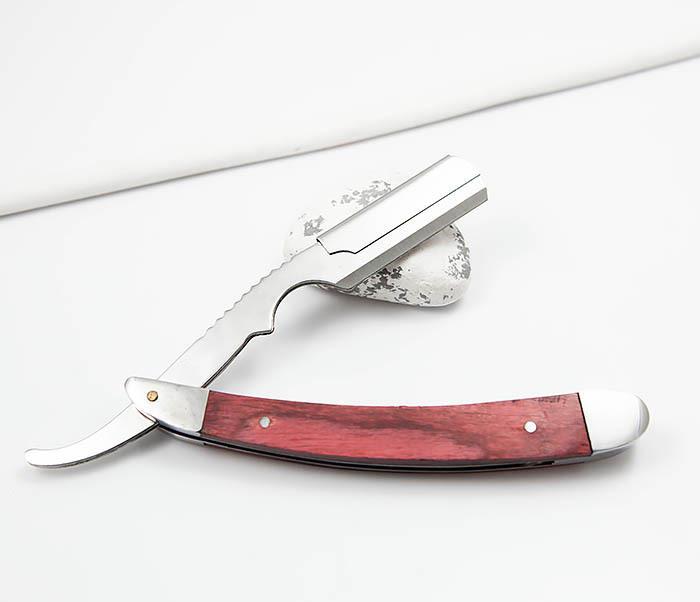 RAZ336-2 Бритва шаветка для сменных лезвий с деревянной ручкой фото 04